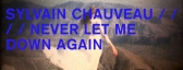 SYLVAIN CHAUVEAU _ NEVER LET ME DOWN AGAIN